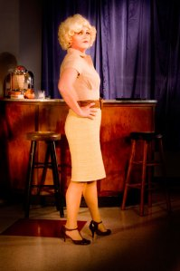 Amy Henderson plays the sassy Pepper in PULP.  Photo by John MacLellan.