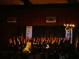 The Richmond Men's Chorus and Hampton Roads' Men's Chorus join forces.