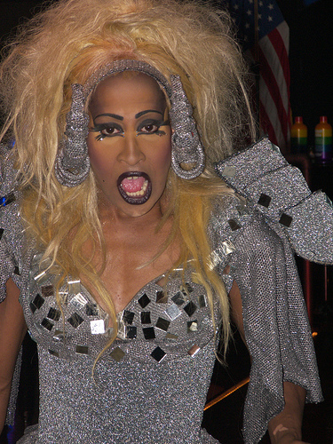 """This fierceness performed Tina's theme to Thunderdome, """"We Don't Need Another Hero."""""""