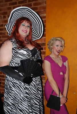 Magnolia and Olivia from Varietease Burlesque made an appearance.