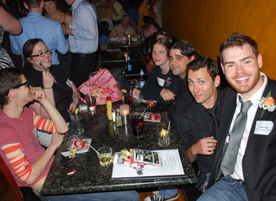 GayRVA.com Founder Kevin Clay with the Rocky Horror Picture Cast.