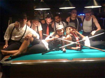 On Saturday night, the Nations staff dressed Mob-style in honor of Stonewall 40.  New York's Stonewall Inn was a Mafia-owned establishment.