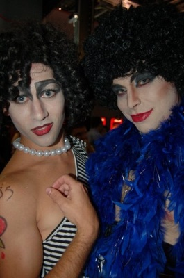 Stephan Rice as Frankfurter and AIDSWalk's Scott Sibley also as Frankfurter during Rocky Horror Week's Movieland Cocktail Hour