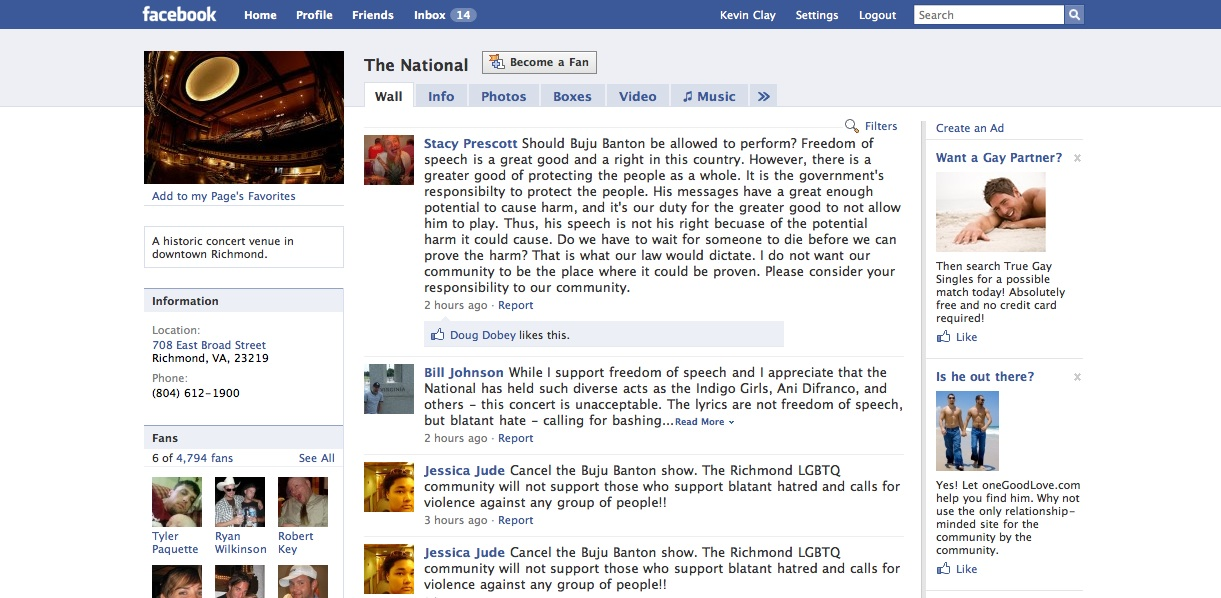 TheNationalFacebook